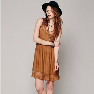 Brown Diana Open Back Dress | Free People